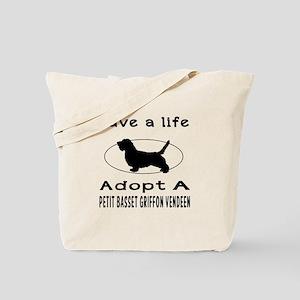 Adopt A Petit Basset Griffon Vendeen Dog Tote Bag