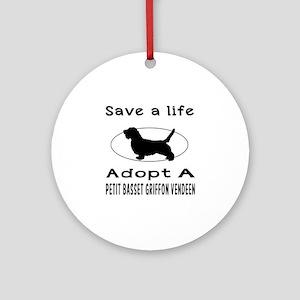 Adopt A Petit Basset Griffon Vendeen Dog Ornament