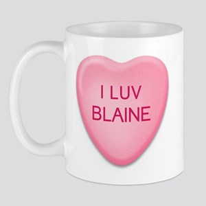 I Luv BLAINE Candy Heart Mug
