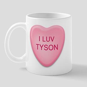 I Luv TYSON Candy Heart Mug