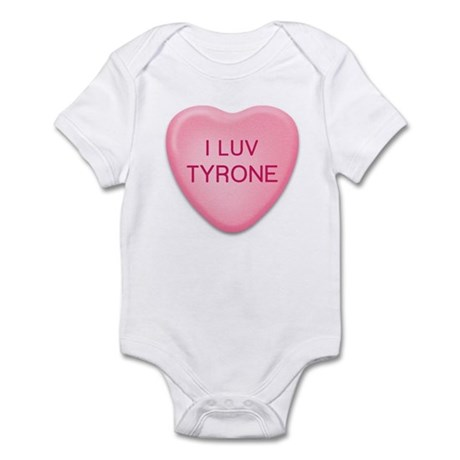 I Luv TYRONE Candy Heart Infant Bodysuit