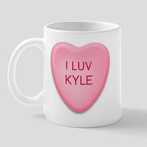 I Luv KYLE Candy Heart Mug