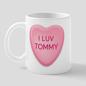 I Luv TOMMY Candy Heart Mug