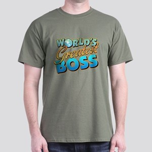 World's Greatest Boss Dark T-Shirt