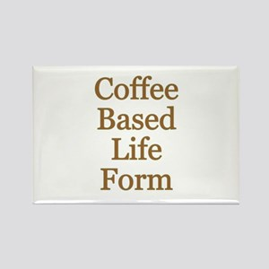 Coffee Based Life Form Rectangle Magnet