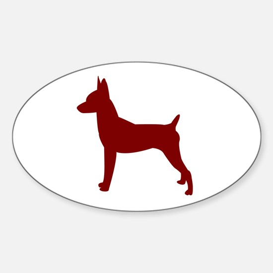Just Toy Fox (Red) Oval Decal