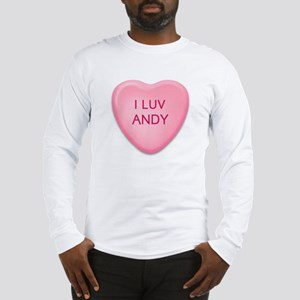 I Luv ANDY Candy Heart Long Sleeve T-Shirt