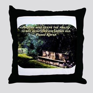 Anyone Who Keeps The Ability - Kafka Throw Pillow