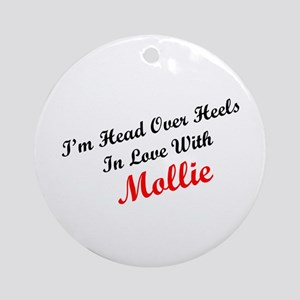 In Love with Mollie Ornament (Round)
