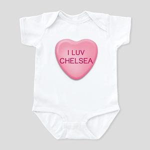 I Luv CHELSEA Candy Heart Infant Bodysuit