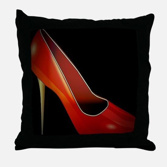 high heel Throw Pillow