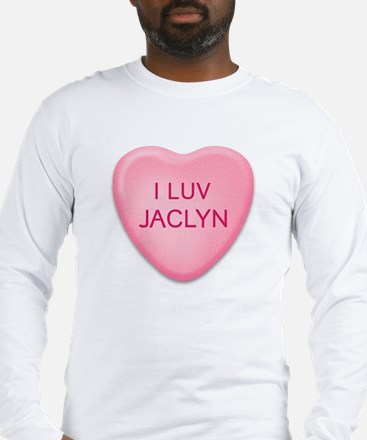 I Luv JACLYN Candy Heart Long Sleeve T-Shirt