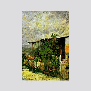 Van Gogh - Montmarte Path with Sunflowers Magnets