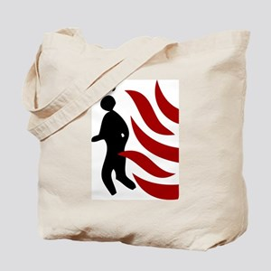 Fire Warning Sign Tote Bag