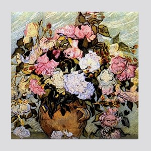 Van Gogh - Still Life Vase with Roses Tile Coaster