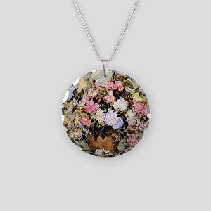 Van Gogh - Still Life Vase w Necklace Circle Charm