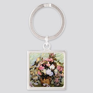 Van Gogh - Still Life Vase with Ro Square Keychain