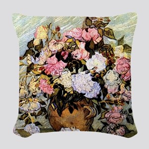 Van Gogh - Still Life Vase wit Woven Throw Pillow