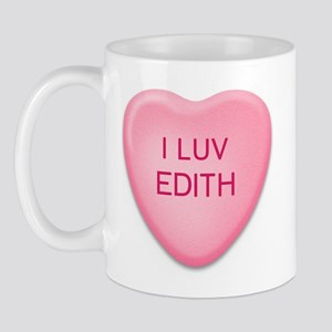 I Luv EDITH Candy Heart Mug
