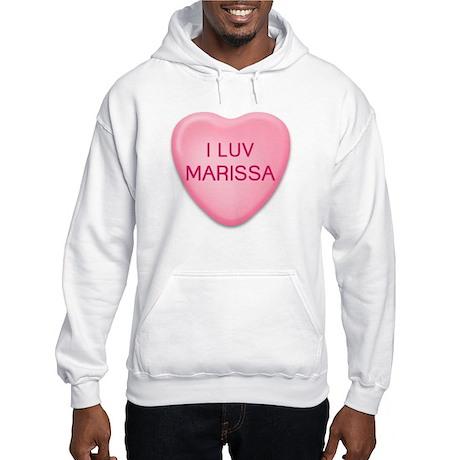 I Luv MARISSA Candy Heart Hooded Sweatshirt
