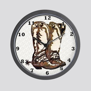 Boots n Spurs Wall Clock