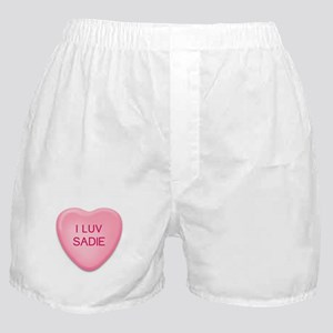 I Luv SADIE Candy Heart Boxer Shorts