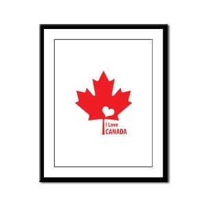 I Love Canada Framed Panel Print