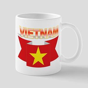 Vietnamese flag ribbon Mug