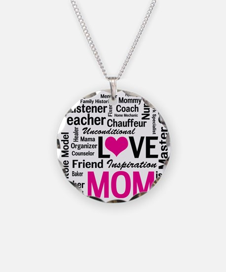 Mom is Love - Birthday, Moth Necklace