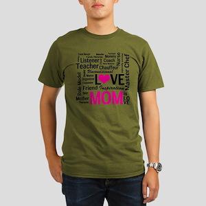 Mom is Love - Birthda Organic Men's T-Shirt (dark)