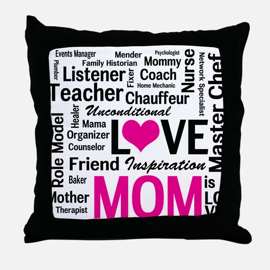 Mom is Love - Birthday, Mothers Day Throw Pillow