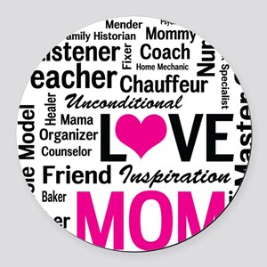 Mom is Love - Birthday, Mothers D Round Car Magnet