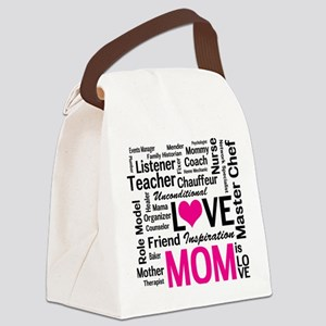 Mom is Love - Birthday, Mothers D Canvas Lunch Bag