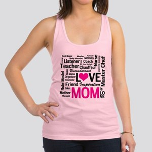 Mom is Love - Birthday, Mothers Racerback Tank Top