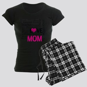 Mom is Love - Birthday, Moth Women's Dark Pajamas