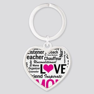 Mom is Love - Birthday, Mothers Day Heart Keychain