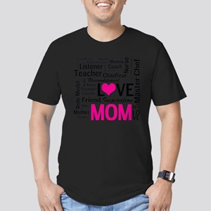 Mom is Love - Birthday Men's Fitted T-Shirt (dark)