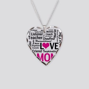 Mom is Love - Birthday, Mothe Necklace Heart Charm