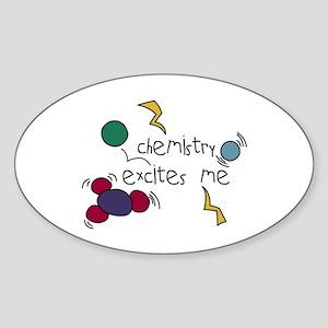 Chemistry Excites Me Oval Sticker