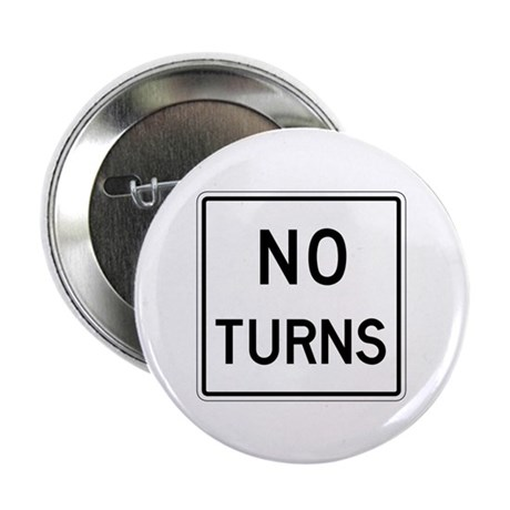 """No Turns - USA 2.25"""" Button (100 pack)"""