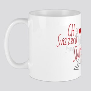 I Love Switzerland - For Dark Clothing Mug