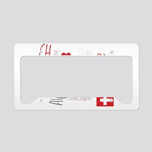 I Love Switzerland - For Dark License Plate Holder