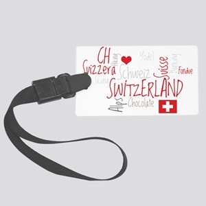 I Love Switzerland - For Dark Cl Large Luggage Tag