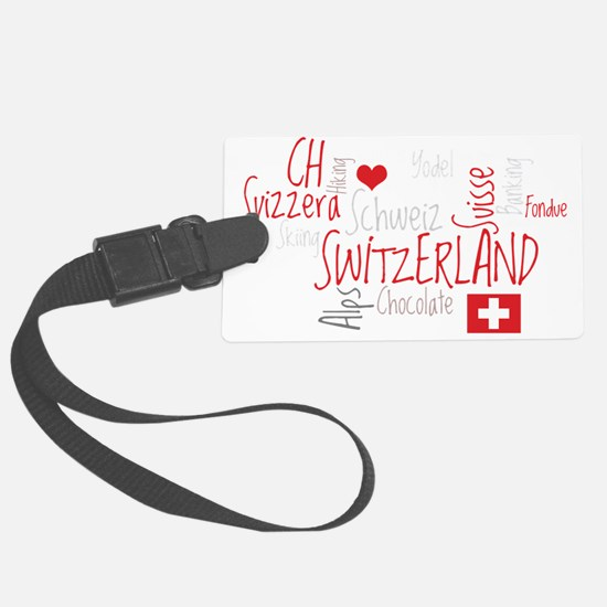 I Love Switzerland - For Dark Cl Luggage Tag