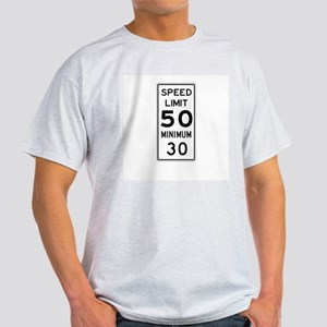 Speed Limit With Minimum - USA Ash Grey T-Shirt