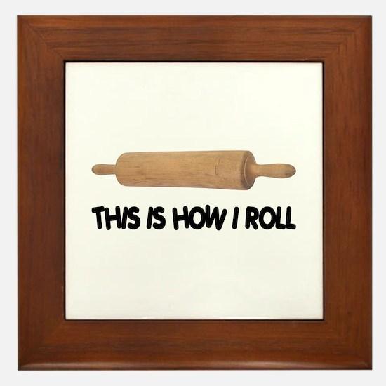 How I Roll Baker's Framed Tile