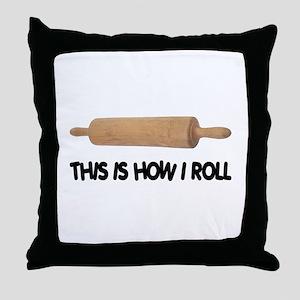 How I Roll Baker's Throw Pillow