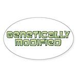 Genetically Modified Oval Sticker