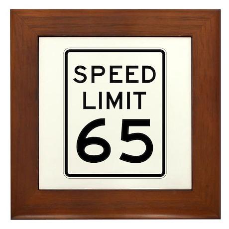 Speed Limit 65 - USA Framed Tile