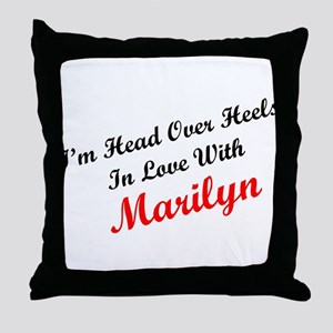 In Love with Marilyn Throw Pillow